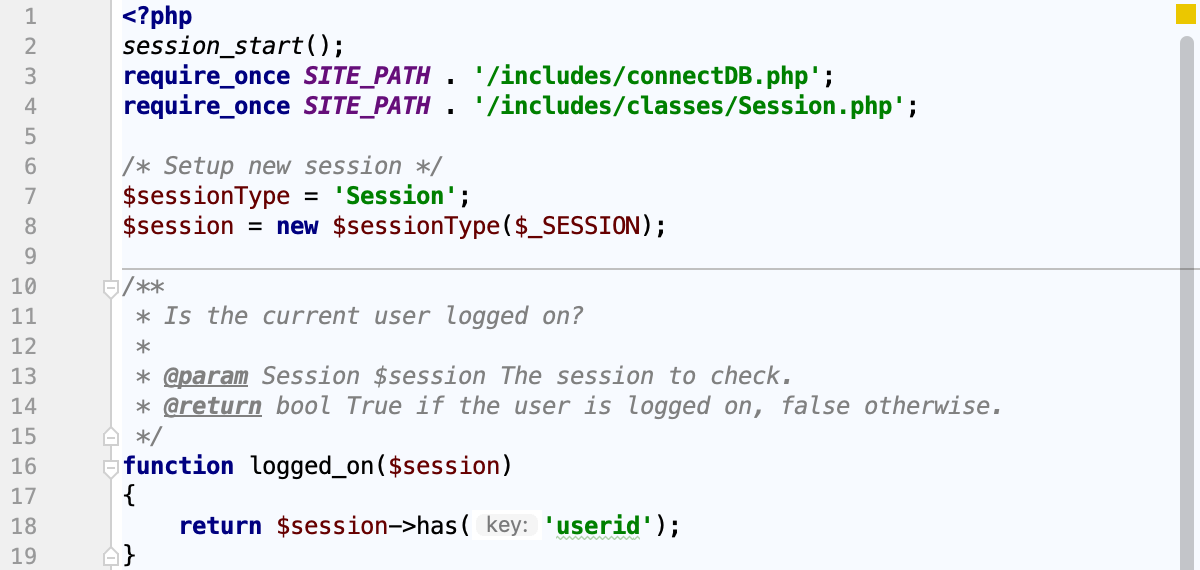 Default color schemes for PHP