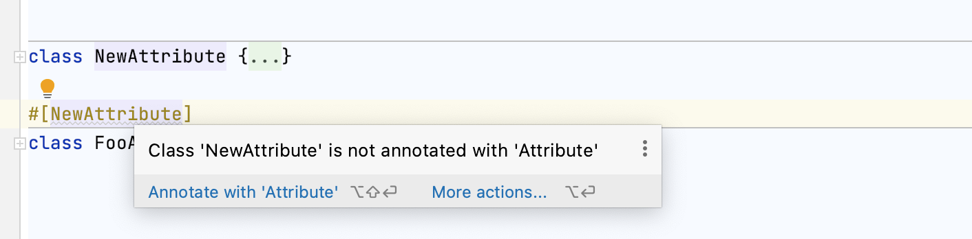Class not annotated with attribute