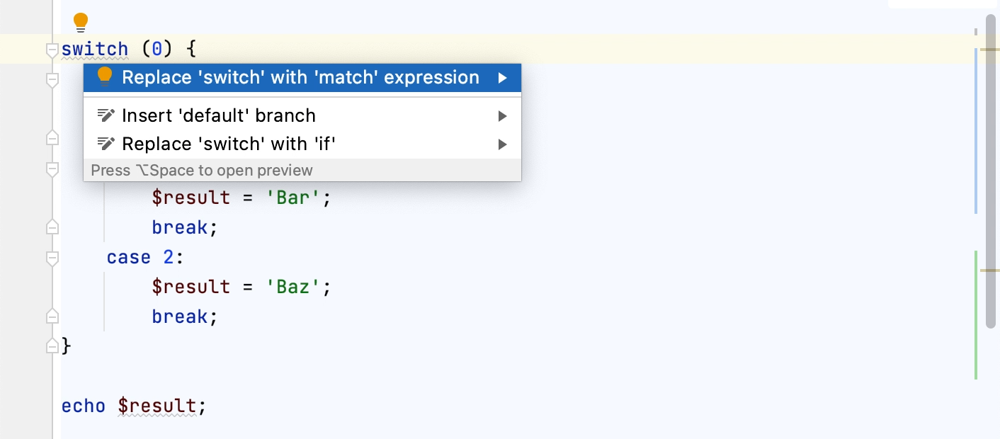 Converting a switch statement to a match expression
