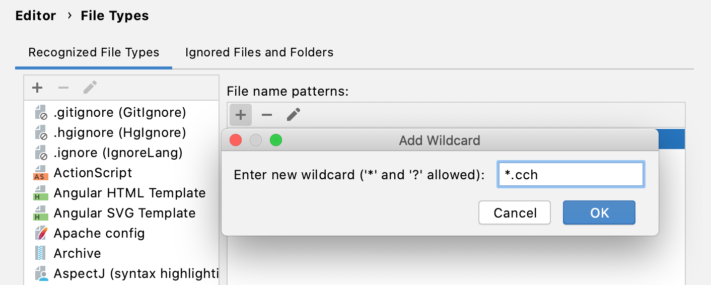 PhpStorm: Change association between file type and related filename patterns
