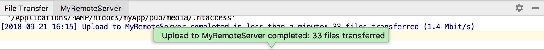Deployment File Transfer