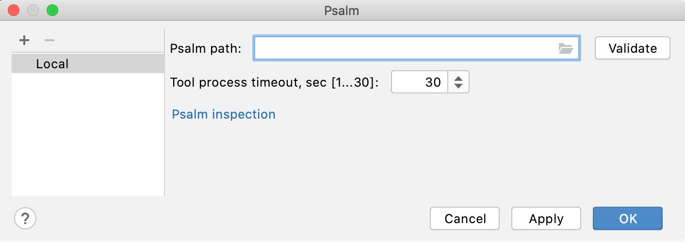 Empty Psalm path field