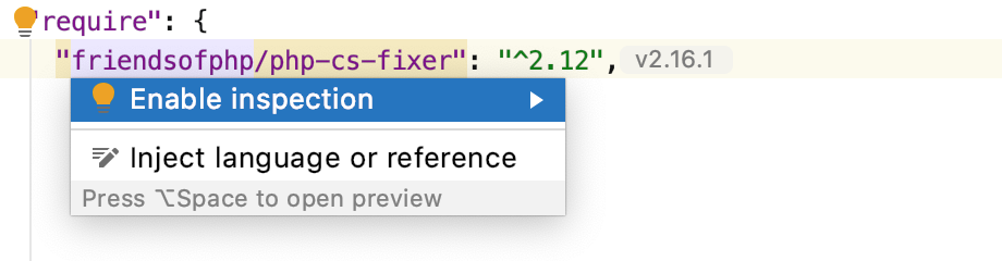 Enable the PHP CS Fixer inspection