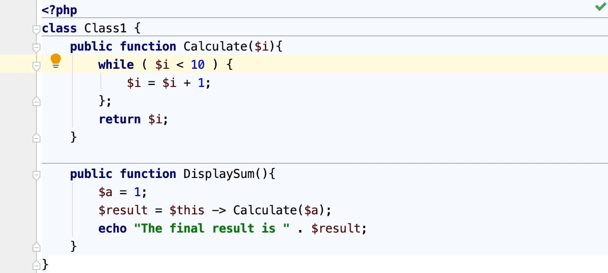 Extracting a parameter