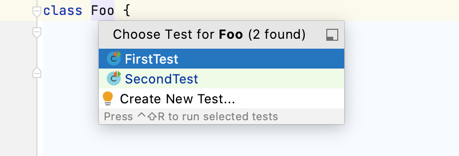 Navigate to test from test subject