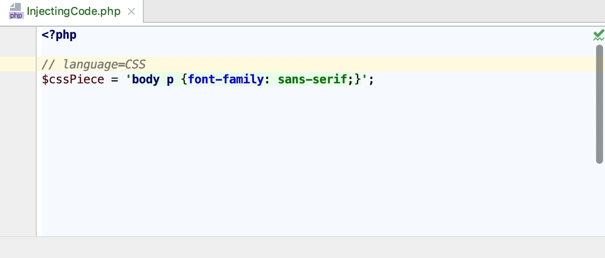 CSS injection comment