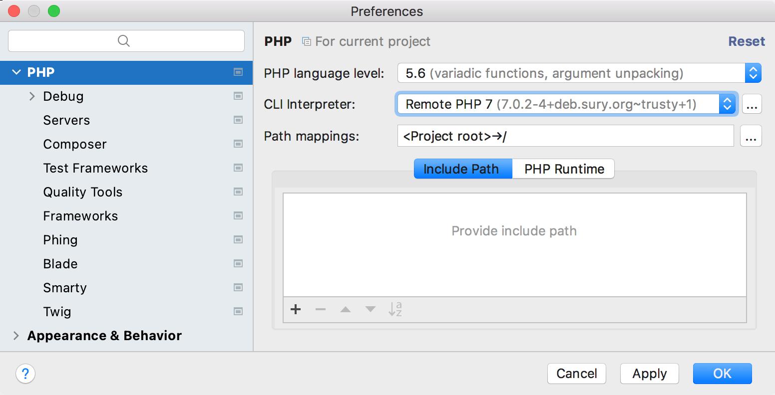 MAMP PHP settings