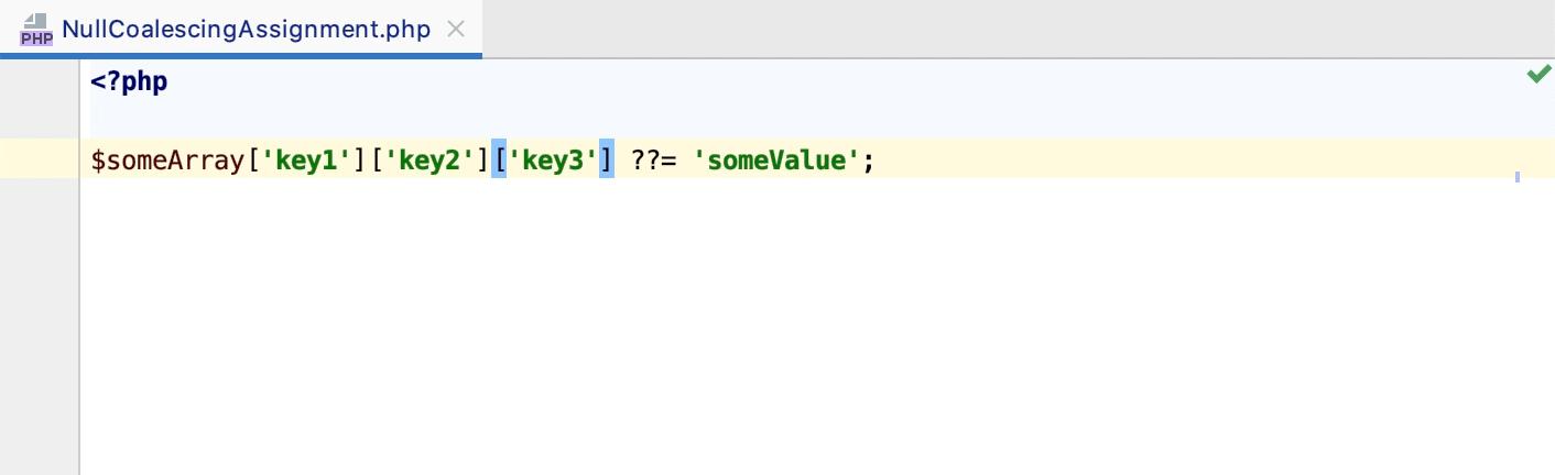 Null coalescing assignment operator