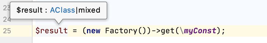 Method return type overridden via literal
