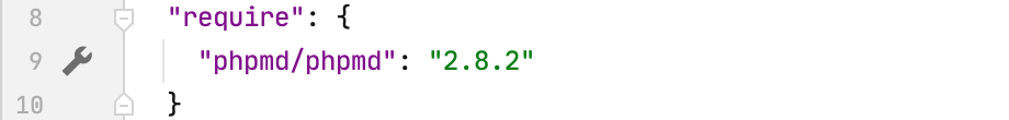 Gutter icon for phpmd settings in composer.json