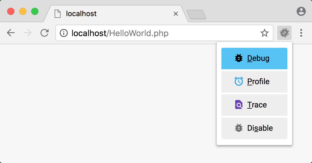 Xdebug helper in Chrome