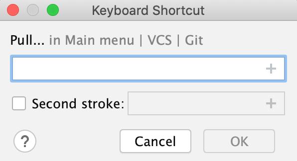 the Keyboard shortcut dialog