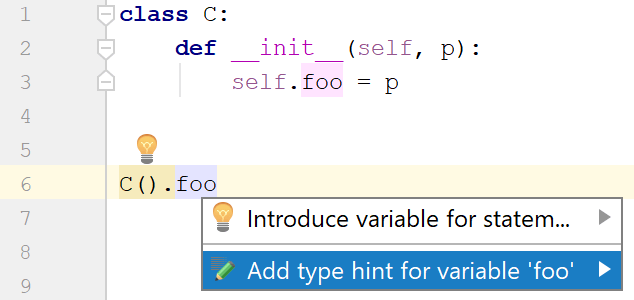 example of adding a type hint for a class attribute