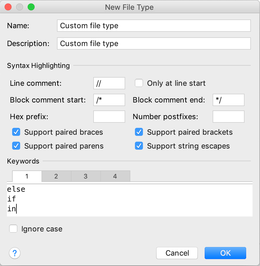 Creating a new file type