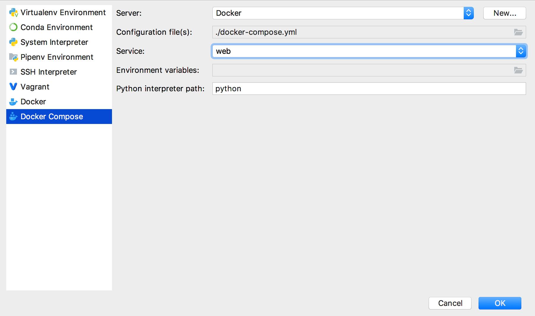 Configure remote Python interpreter