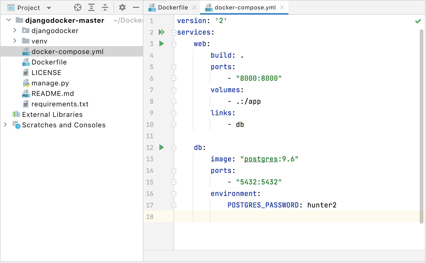 docker-compose file