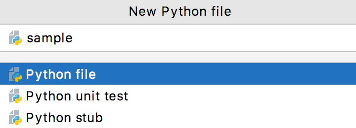 Adding a new Python file