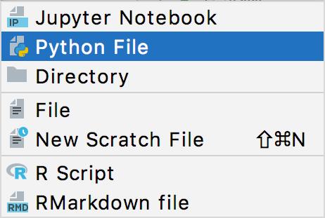 New Python file