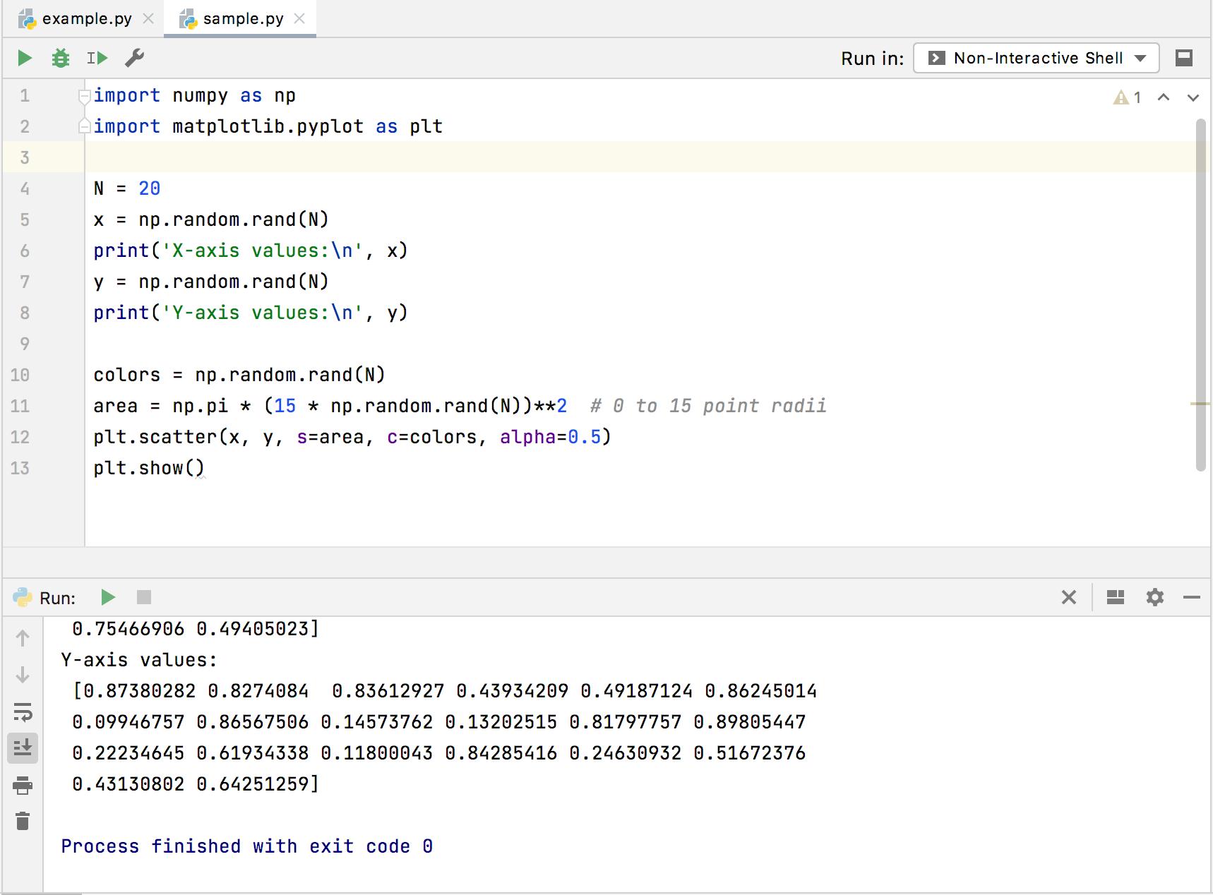 Running a script in the non-interactive console