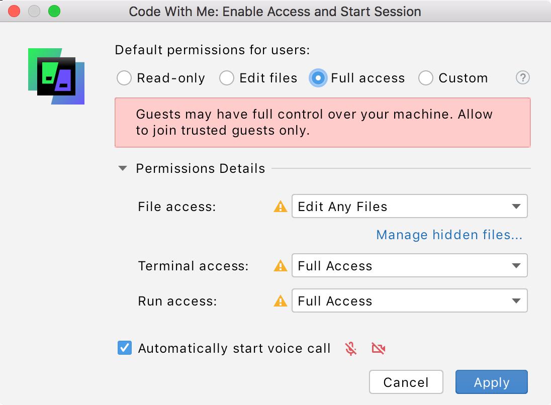 Full access permissions