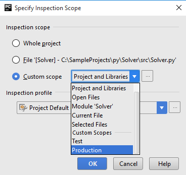 Py inspect code against scope