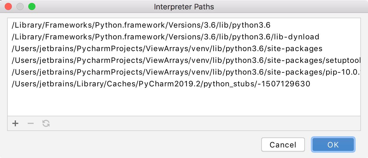 Interpreter paths