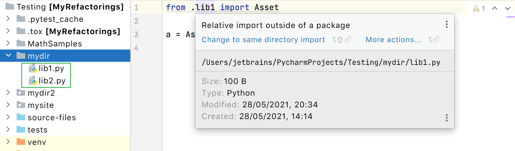 Relative import outside of the package