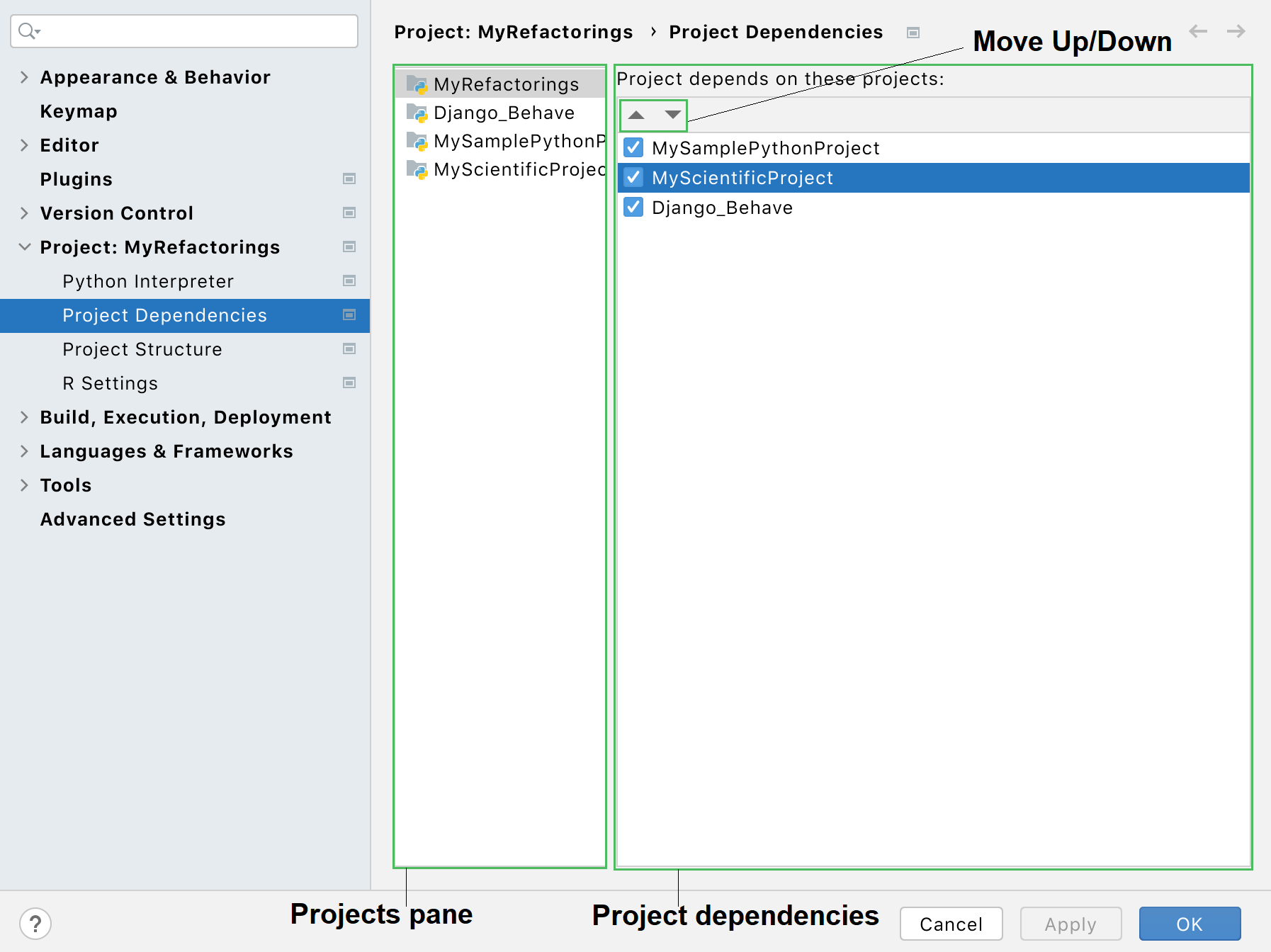 Managing project dependencies