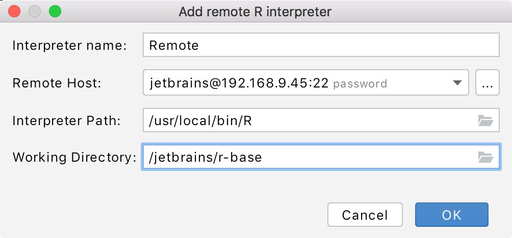 Adding a path to the remote interpreter