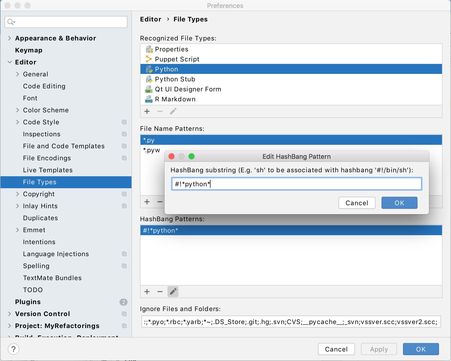 Configuring a shebang command for Python