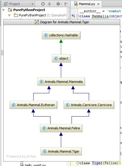 Py show class diagram
