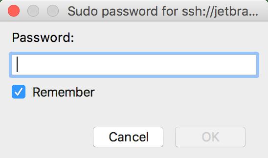 Provide a sudo password