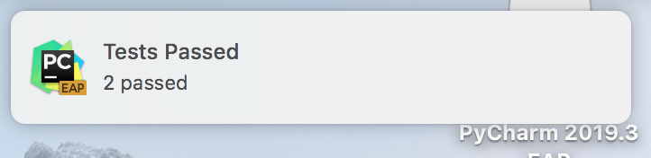 System notification on macOS