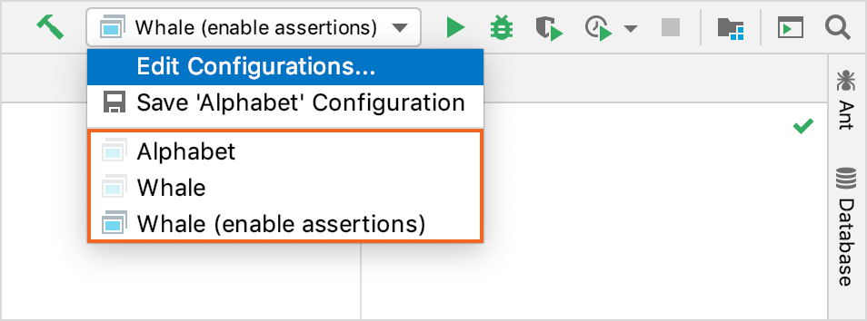 Permanent and temporary configurations have different icons