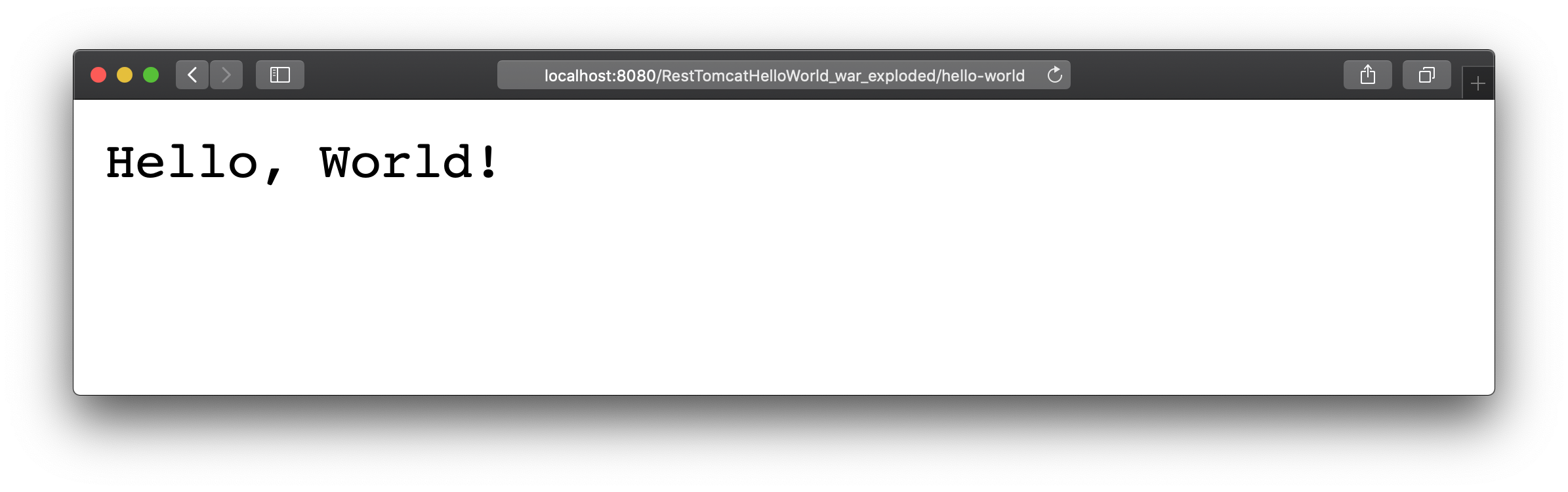 Deployed application output in the web browser