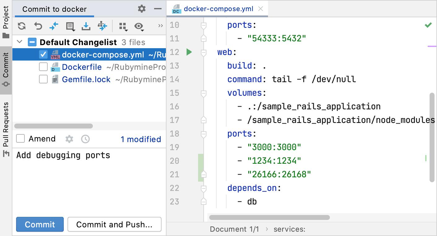 Commit tool window