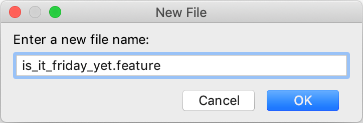 New feature file