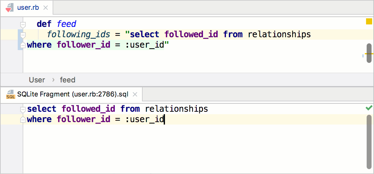 Edit the injected SQL query in the dedicated editor