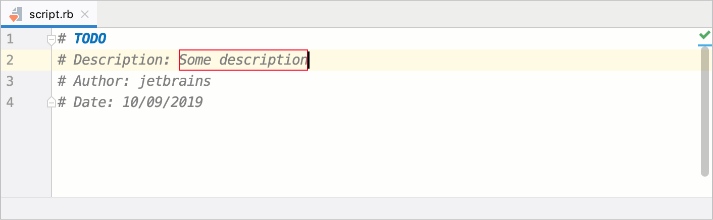 Expand template with variables