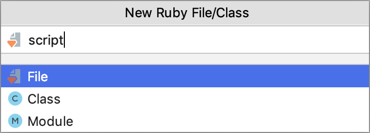 New Ruby File/Class