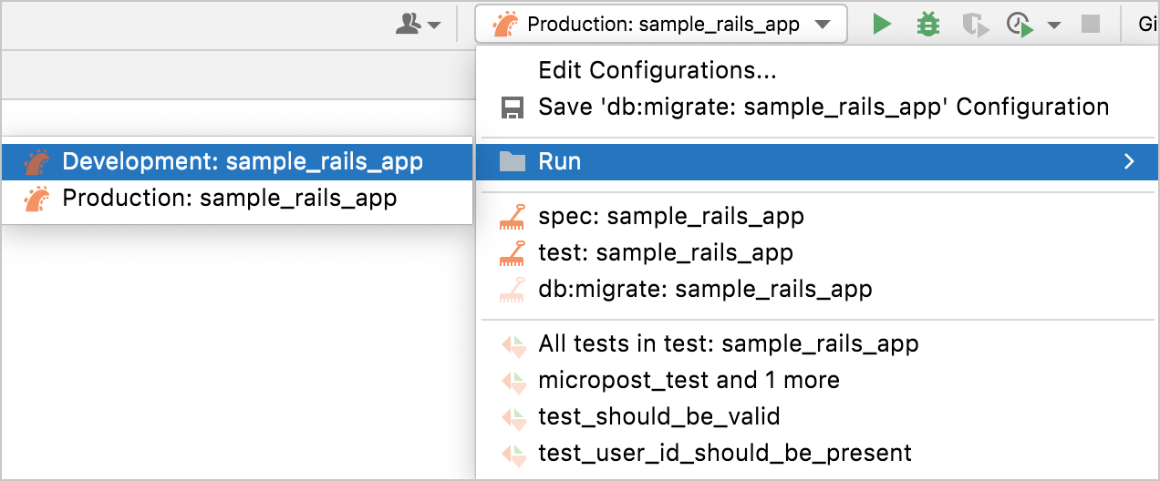 folders for run configurations