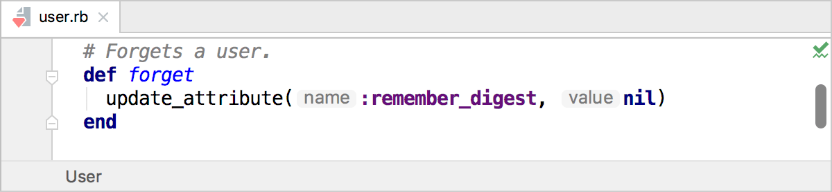 Parameter hints