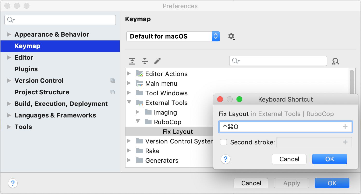 Configure shortcut