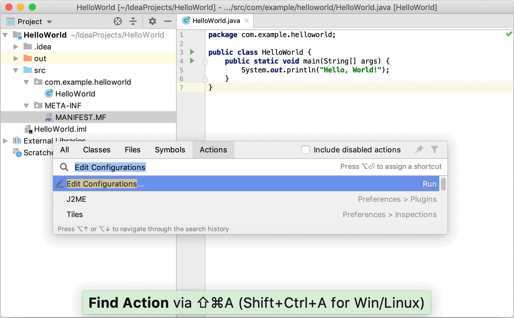 Creating a new run configuration