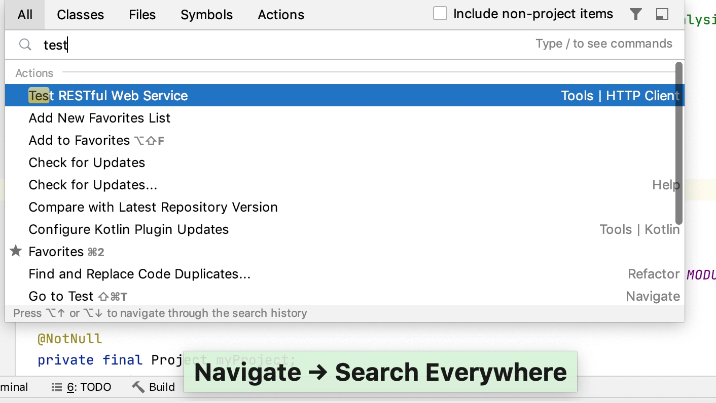 search everywhere animation