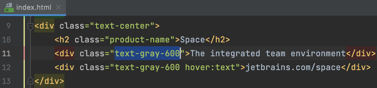 Select whole CSS identifier on double-click: ON