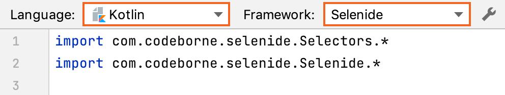 Selenium pog language framework