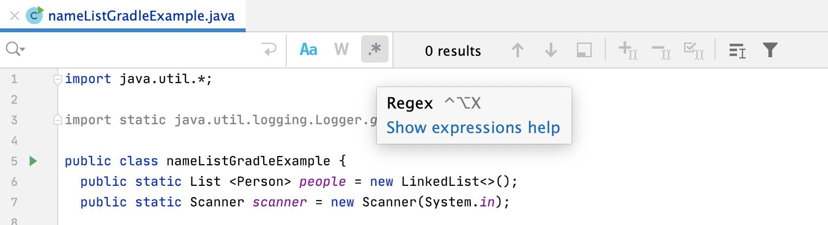 Regex icon