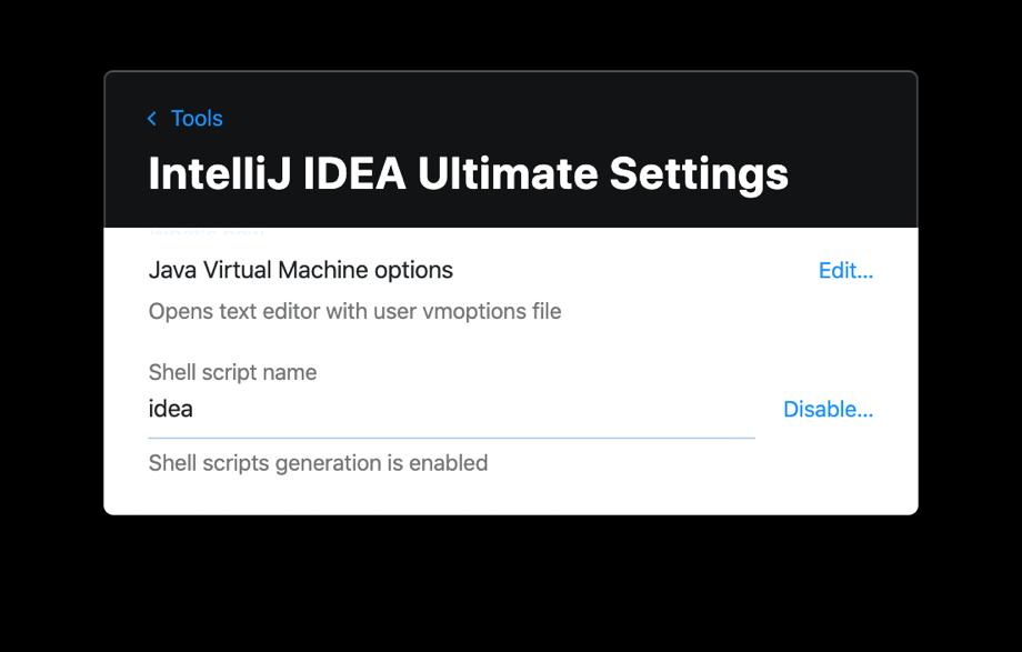 Toolbox App IntelliJ IDEA Ultimate Settings