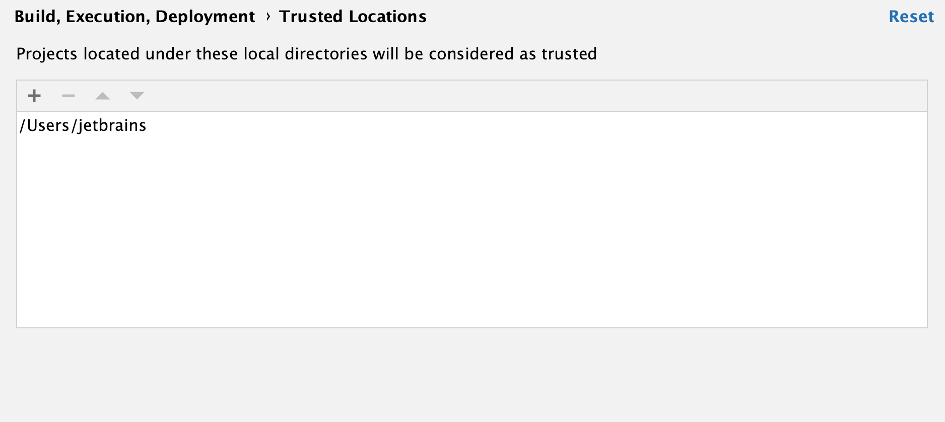 Trusted Locations